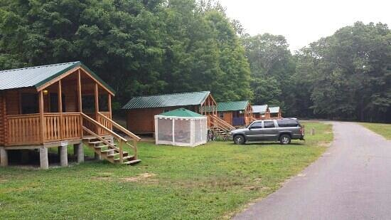 Kettletown State Park: cabin area