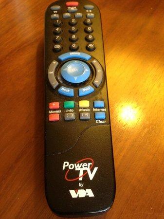 Ramada Plaza Liege City Center: Dirty TV Controller