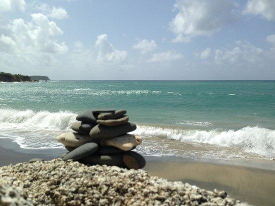At the Waves: Playa Negro, nice walk and worth the visit!