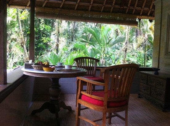 Kebun Indah : terrasse privée