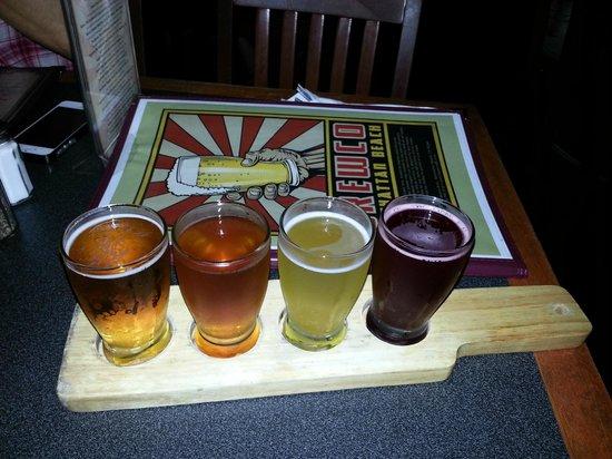 Beer flight - Manhattan Beach Brewing Company