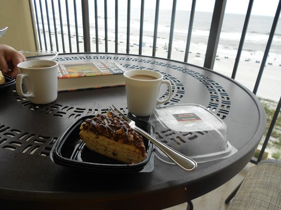 Hope's Cheesecake Incorporated: Heath Bar cheesecake on our balcony