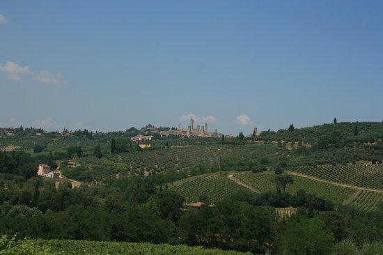 Fattoria Il Piano: Blick auf San Gimignano