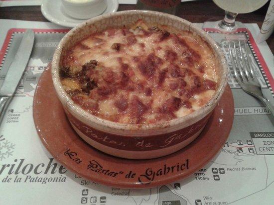 Las Pastas de Gabriel: Lasagna con salsa  Bolognesa