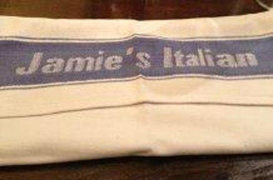 Jamie's Italian: Kul servett (kökshandduk)