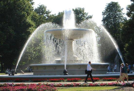 Saxon Gardens: cooling fountain