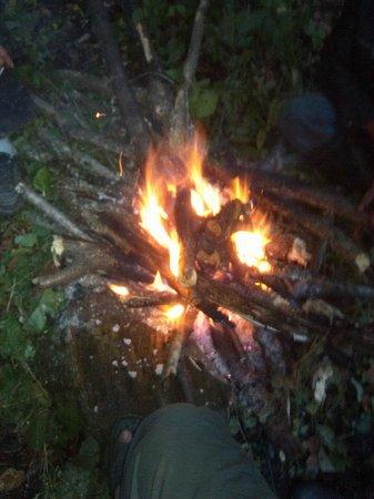 Shennongding National Nature Reserve: camp fire