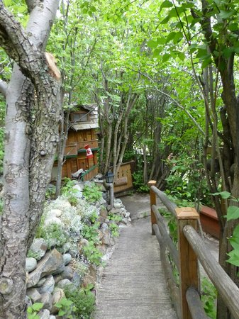 Nina's Hillside Garden: Trail by the chalets