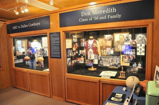 Old Fire Station Museum: Don Meredith Exhibit on the bottom floor