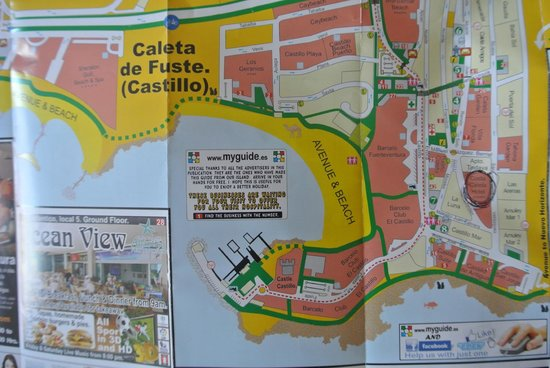 Caleta De Fuste Map map of the area   Picture of Hotel Costa Caleta, Caleta de Fuste  Caleta De Fuste Map