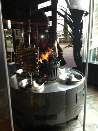 Fogo de Chao Brazilian Steakhouse : Open flamed grill as you walk in door