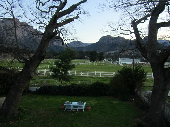 Auberge La Dauphine: view from 'Pinotage'