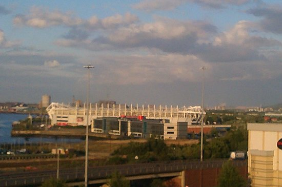 Jurys Inn Middlesbrough: View of the Riverside Stadium from the room