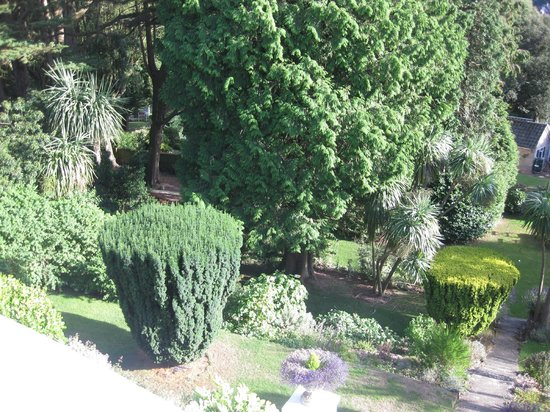 Vomero Holiday Apartments: View of the garden from Vomero room balcony