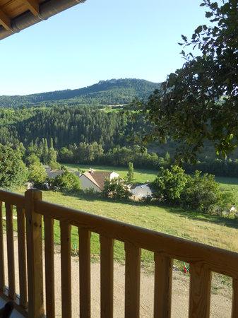Lauz'oustal : vue du balcon