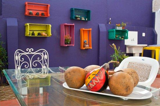 Purple House Hostel: Nosso quintal gourmet.
