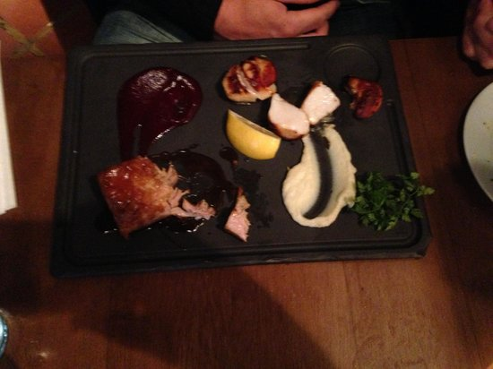 The Seafood Bar @ Kirwan's: Scallops and pork belly