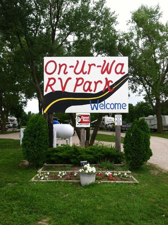 On-Ur-Wa RV Park: Welcome sign