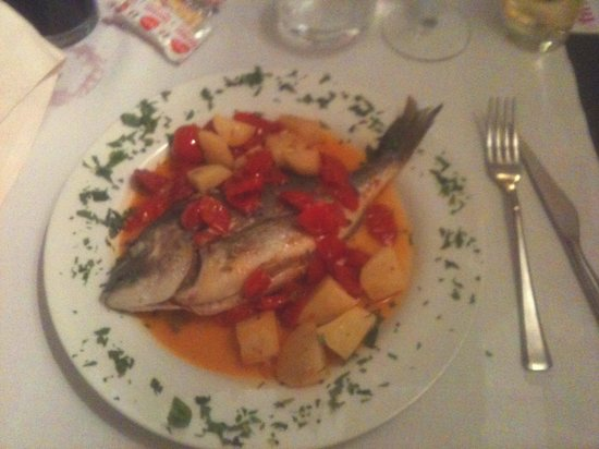 Il Tinello: lovely seebass with veg as second plate