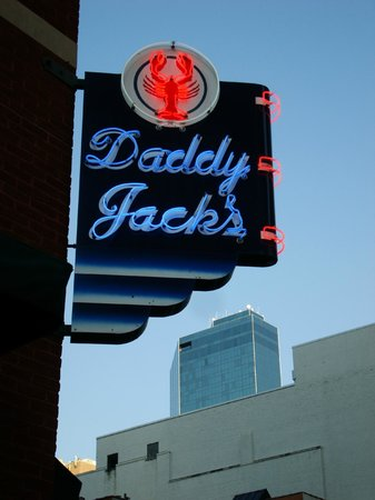 Daddy Jacks Lobster & Chowder: The very visible corner sign