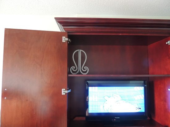 Avenue Plaza Hotel: Wig Stand and TV