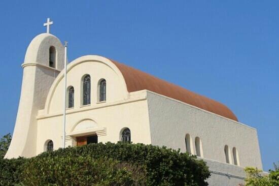 Koutsounari, Grécia: На территории есть даже церковь.