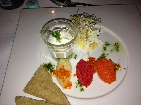 Engebret Cafe : Tasting of norwegian caviars
