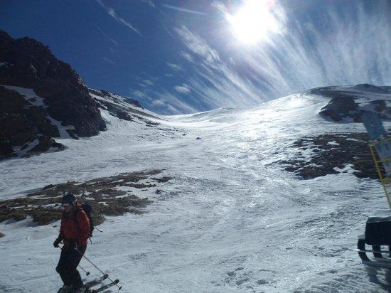 Ski Arpa: Beautiful but hard and icy skiing.