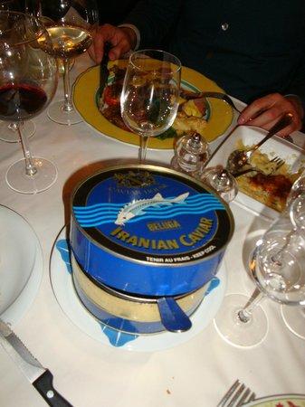 Bistrot du Boeuf Rouge: Lentils in caviar box
