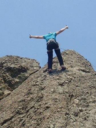 Sylvan Rocks Climbing School: Starting to come down