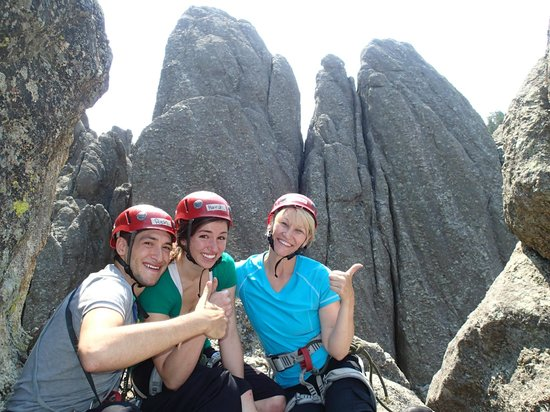Sylvan Rocks Climbing School: All of us at the top of our second climb
