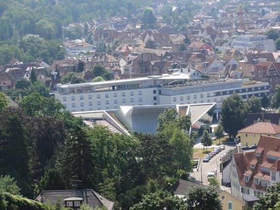 Best Western Premier Hotel Park Consul Stuttgart/Esslingen: View of BW from Esslingen Castle