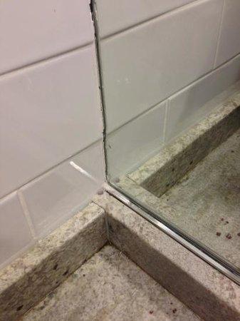 Residence Inn Montreal Westmount: poorly finished bathroom