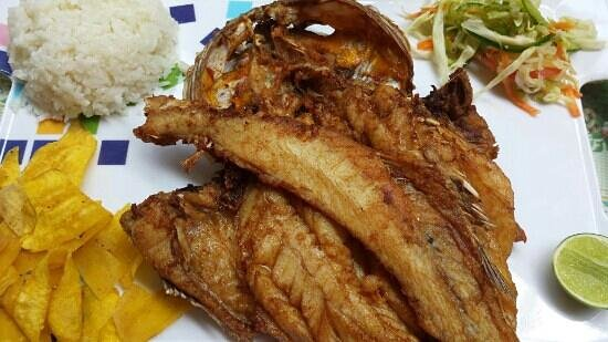 Fried fish picture of restaurant romance marino puerto for Fried fish restaurants