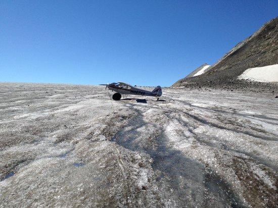 Ultima Thule Lodge: Super Cub on the glacier