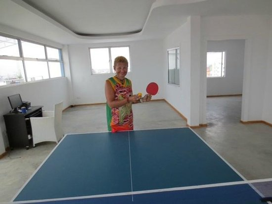 The Frangipani Living Arts Hotel & Spa: TABLE TENNIS ON TOP FLOOR