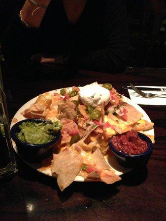The huge delicious nachos appetizer plate