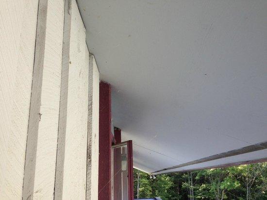 "Lodge at Mount Snow : Cobwebs on ""deck"""