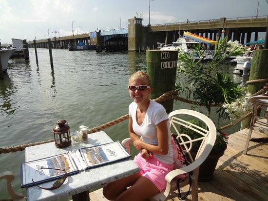 Captain Bill Bunting's Angler: Enjoying dinner at the Angler!