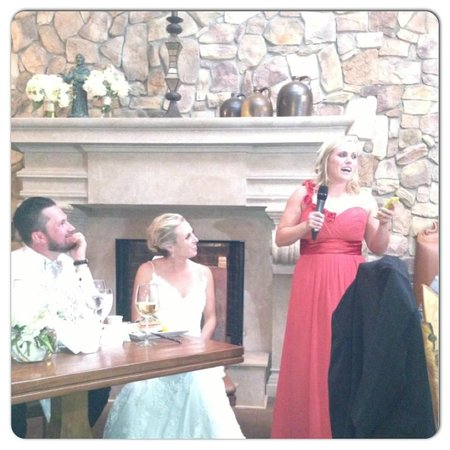 Hotel St. Francis: Maid of honor speech at our reception dinner