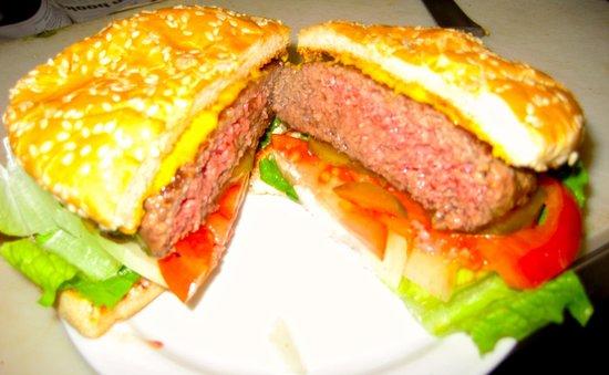 Tiburon Diner: A 1/2 lb. Medium Rare Cheeseburger