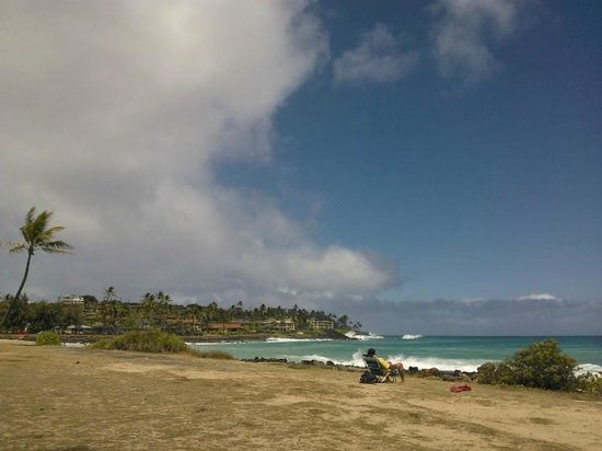 Poipu Kai Resort - Suite Paradise: What's left of Tropical Storm Flossie rolling in