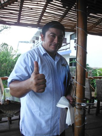 Blue Angel Resort: Sergio - always service with a smile!