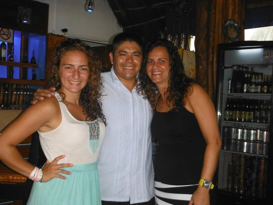 Blue Angel Resort: Ariel, Abe and Marla - great guy with such a sense of humour - thanks so much Abe