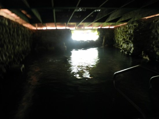 """Ojo Caliente Mineral Springs Resort and Spa: My husband found the """"soda spring"""" creepy and unpleasant in the dark but the bubbling water was"""