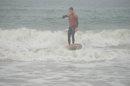 Sandbar Surf School: Great job Justin! Up on the first day!!!