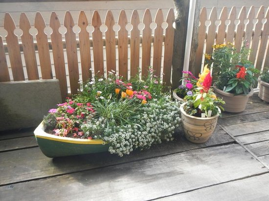 Seine Boat Inn: One of the beautiful planters