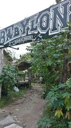 Babylon Mat Lounge: babylon street enterence