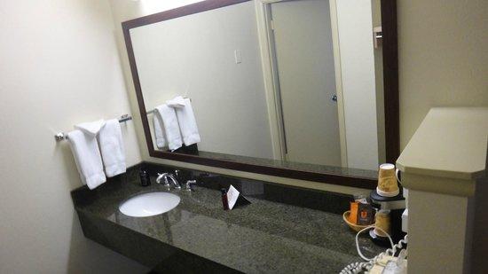 Cimarron Inn Klamath Falls: Lots of counter space around sink.