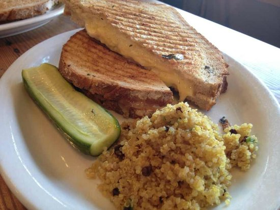 The Curious Palate Grilled Cheese Sandwich with Quinoa Salad